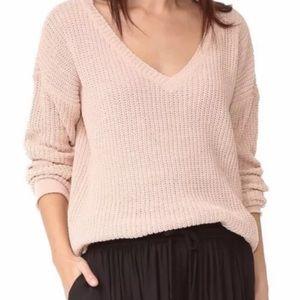 BB Dakota blush pink oversized tunic sweater